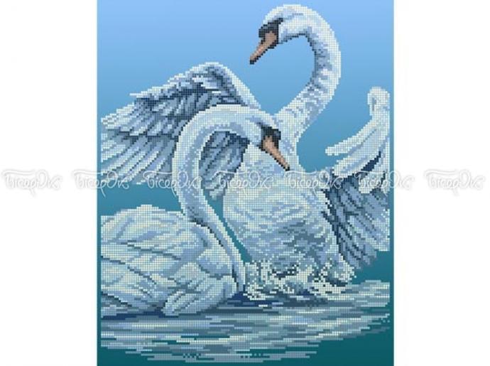 Пара лебедей схема вышивки