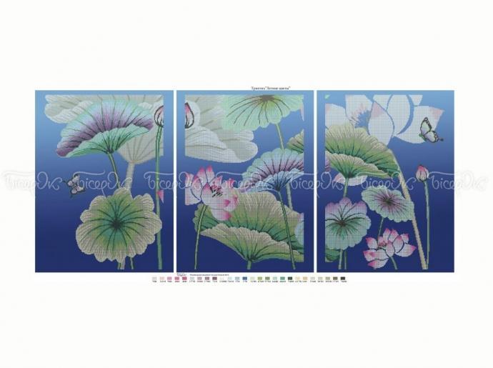 Схема вышивки бисером «Летние