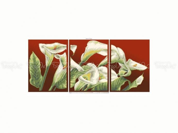Схема вышивки бисером «Каллы»