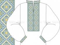 Заготовка мужской сорочки для вышивки бисером «Ромбы » РАСПРОДАЖА