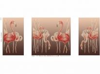 Схема вышивки бисером «Стая Фламинго» (40x100)