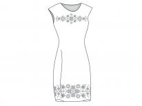 Заготовка женского платья без рукавов «Узоры»