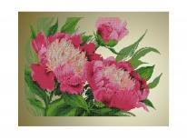 Схема вышивки бисером «Розовые пионы» (40x45)