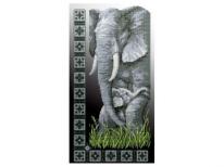 Схема вышивки бисером «Слоны» (30x50)