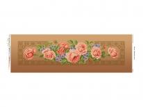 Схема вышивки бисером «Кремовые розы»  коричневый фон (30x100)