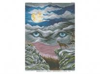 Схема вишивки бісером «Очі вовка»   (A2)