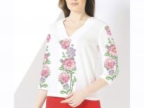 Заготовка женской блузы «Розовый пион»