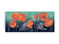 Схема вышивки бисером «Маки в поле» (40x100)