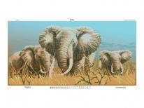 Схема вышивки бисером «Слоны» (30x60)