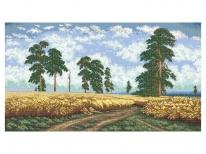 Схема вышивки бисером «Пшеничное поле» (В1)