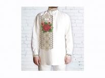 Заготовка чоловічої сорочки для вишивки бісером «Троянда в росі»
