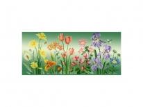 Схема вышивки бисером «Цветочная радуга» (30x50)