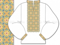 Заготовка чоловічої сорочки для вишивки бісером «Горицвіт» РОЗПРОДАЖ