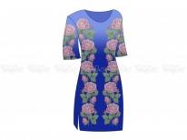 Заготовка женского платья  «Нежные розы 102» РАСПРОДАЖА