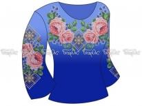 Заготовка женской блузы «Пышные розы»  РАСПРОДАЖА