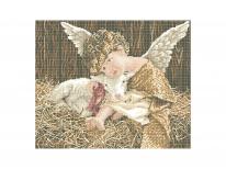 Схема вышивки бисером «Ангел с ягненком» (40x45)
