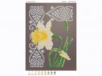 Схема вышивки бисером «Нарцисс» (A5)