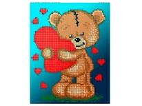 Схема вишивки бісером «Тедді з сердечком» (A5)
