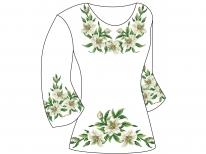 Заготовка женской туники для вышивки бисером  «Лилии 138-1»