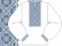 Заготовка чоловічої сорочки для вишивки бісером «Синевір» РОЗПРОДАЖ