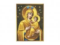 Схема вышивки бисером «Мать Господня с Иисусом» (A1)