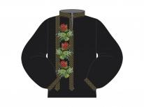 Заготовка мужской сорочки для вышивки бисером «Розы и незабудки»