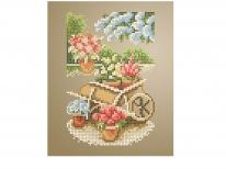 Схема вишивки бісером «Садовий візочок» (A5)