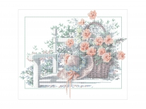 Схема вышивки бисером «Корзина с цветами» (40x45)