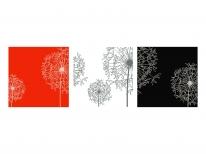Схема вышивки бисером «Одуванчики» (135х45)