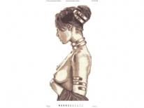 Схема вышивки бисером «Богиня охоты Диана» (30x60)