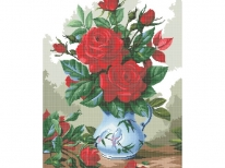 Схема вышивки бисером «Букет красных роз» (A1)