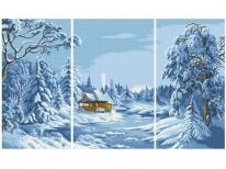 Схема вышивки бисером «Голубая зима» (120х60)