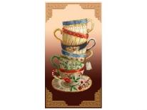 Схема вышивки бисером «Чаепитие с орнаментом» (30x60)
