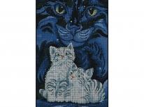 Схема вышивки бисером «Созвездие кота» (30x50)