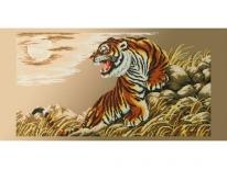 Схема вышивки бисером «Тигр» (40x100)