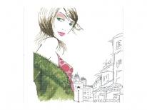 Схема вышивки бисером «Яркий макияж» (40x45)