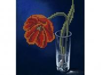 Схема вышивки бисером «Тюльпан» (A5)
