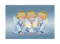 Схема вышивки бисером «Три ангелочка» (A3)