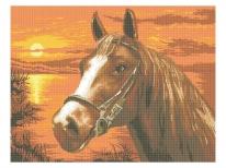 Схема вишивки бісером «На заході сонця» (A1)