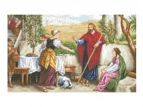 Схема вишивки бісером «Ісус, Марта і Марія» (В1)