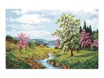Схема вышивки бисером «Цветущая весна» (А1)