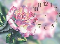 Схема  «Часы чайная роза» (30x50)