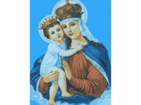 Схема вышивки бисером «Мадонна с младенцем» (A1)