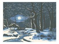Схема вишивки бісером «Зимова ніч» (В1)