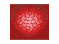 Схема вышивки бисером «Сердечко Валентинка» (40x45)