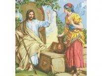 Схема вышивки бисером «Иисус и самаритянка» (A1)