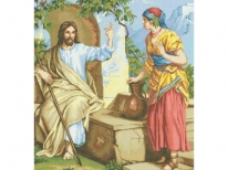 Схема вишивки бісером «Ісус и самаритянка» (A1)