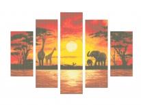 Схема вышивки бисером «Поліптіх Африка» (120х60)