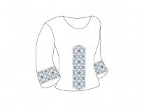 Заготовка женской блузы «Орнамент 95»