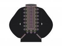 Заготовка мужской сорочки для вышивки бисером «Рассветная»
